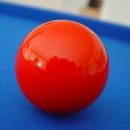 red pool ball