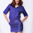Sexy Doutzen Kroes Blue Dress