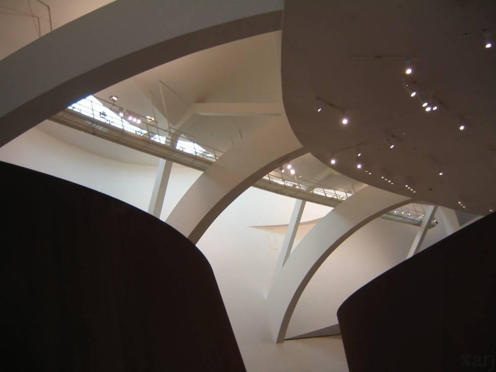 Inside Guggenheim Museum Bilbao Spain
