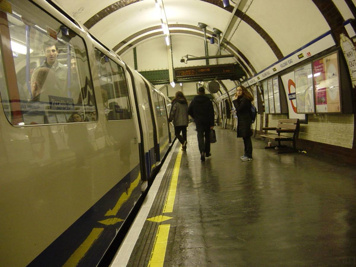 Tube Train waiting