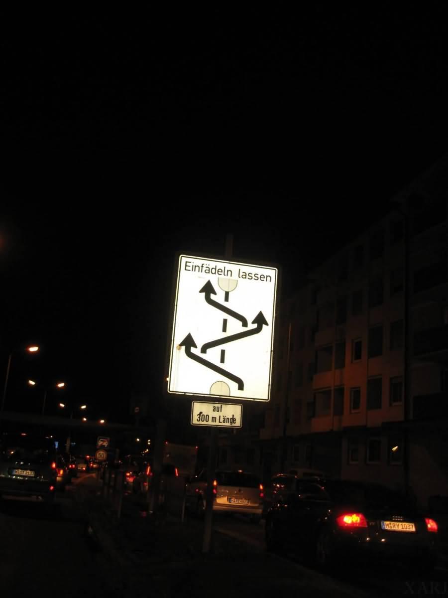 Road Sign Munich Germany