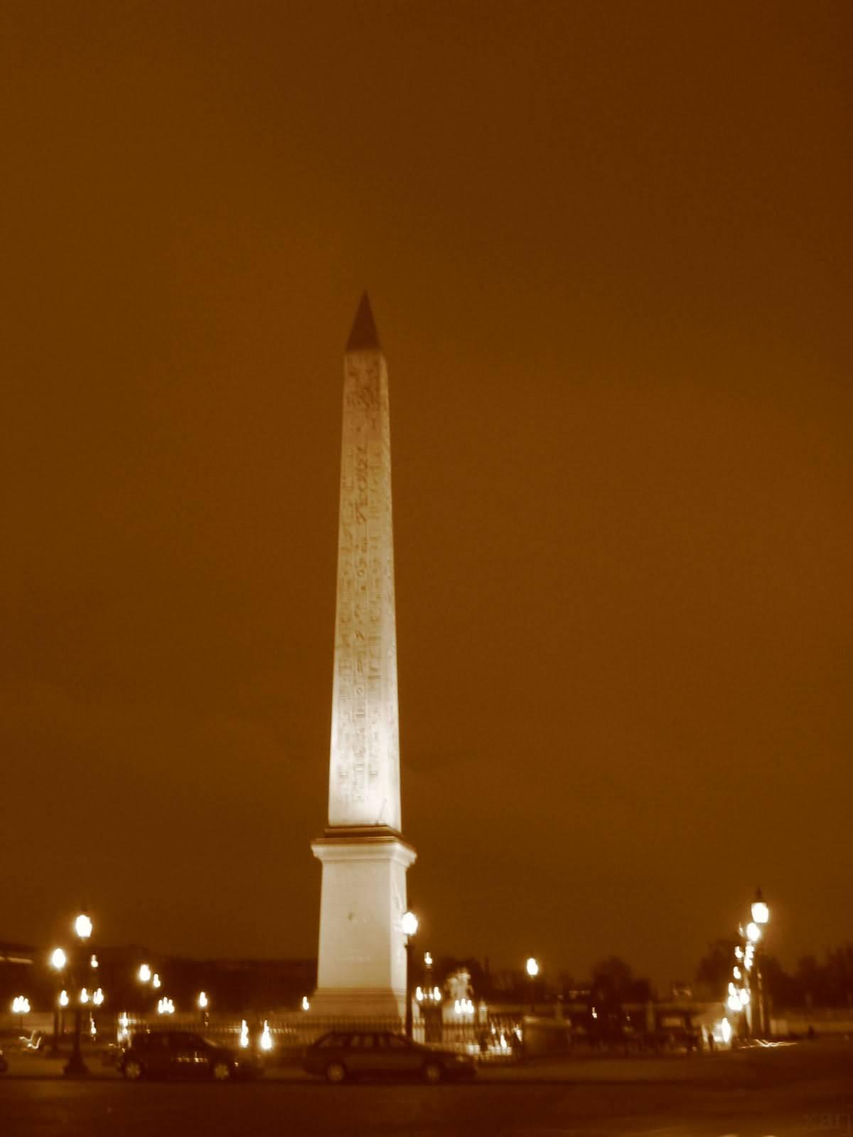 Obelisc Paris At Night