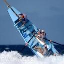 Surfer Wipeout Big Surf