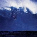Surfer Wipe out Big Surf