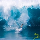 Surfer Wipe Out Big Waves