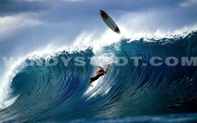 Surfer Surfing Wipout