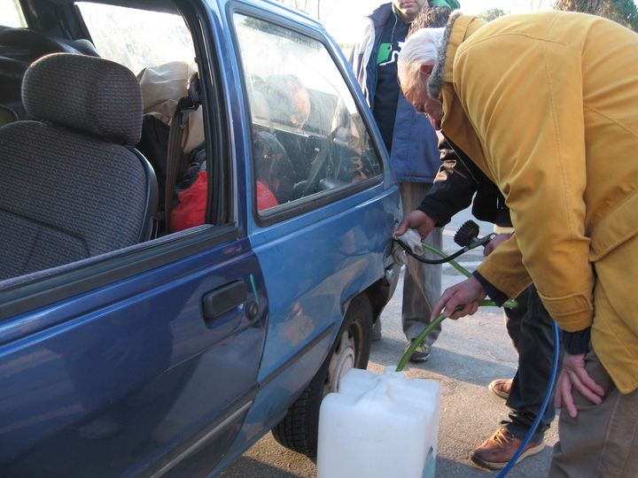 Removing the Fuel from the Car