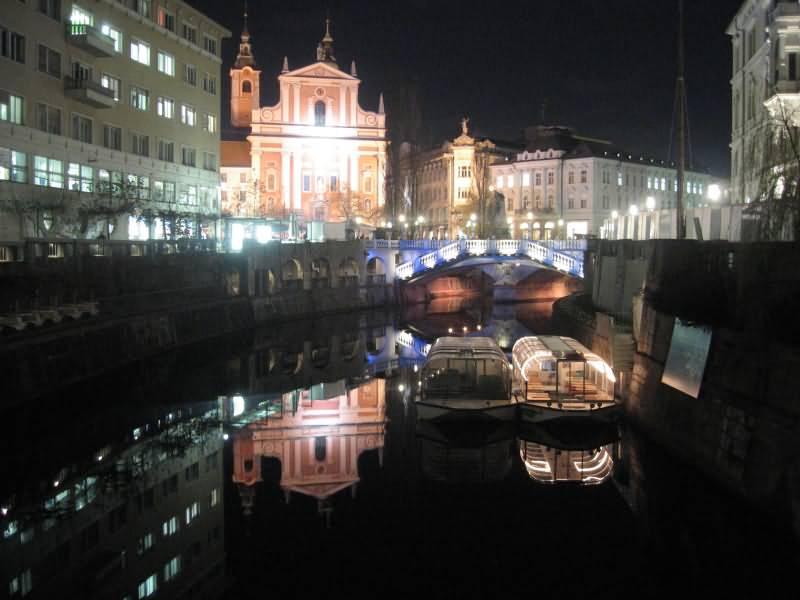 Lubiana Slovenia Night