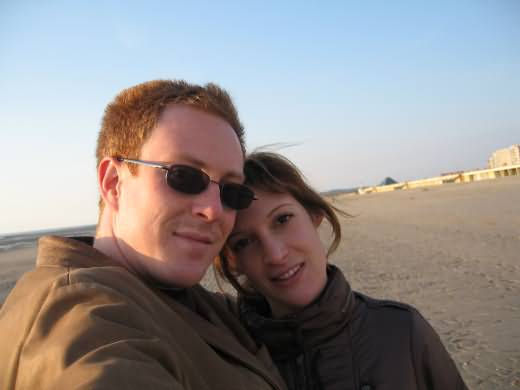 Arnaud and Claire in Plage Touquet