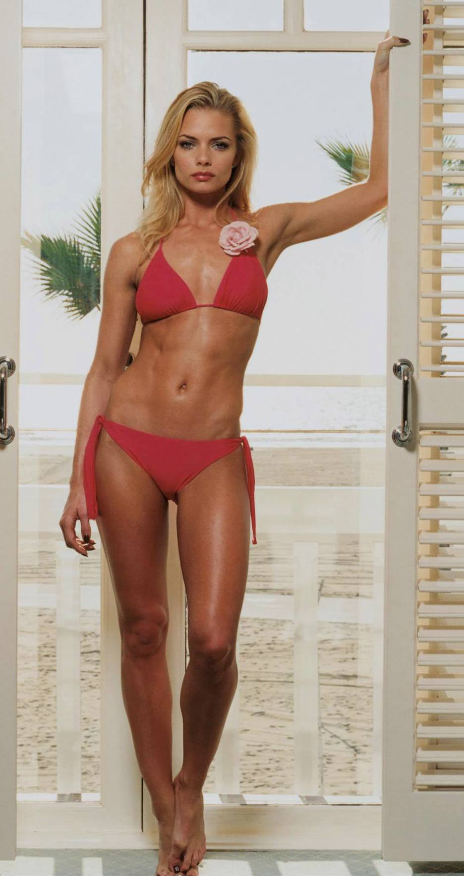 Jaime Presley in red Bikini
